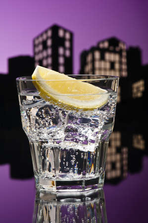 tom collins: Metropolis Tom Collins cocktail in city skyline setting