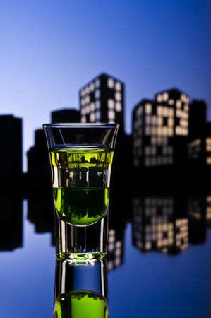 ajenjo: ABC disparar en un entorno urbano colorfull