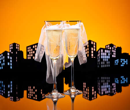 Metropolis Champagne glasses photo