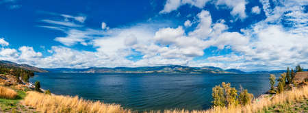 Kelowna Okanagan jezero, Lakeshore Road Okanagan Valley BC Reklamní fotografie