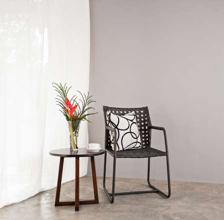 Garden furniture chair in simple setting photo