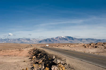 aguada: Arequipa to Chivay, Salinas and Aguada Blanca National Reservation Stock Photo