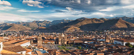 cuzco: City of Cuzco in Peru, South America