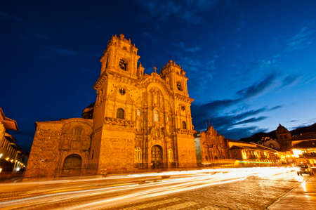 cuzco: Church Temple of the Company of Jesus in Cuzco Peru