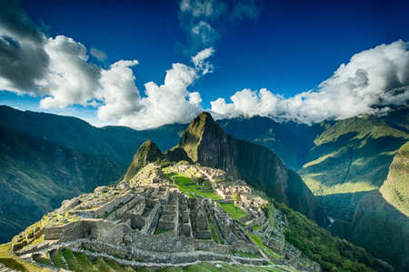 cuzco: Machu Picchu beautiful panorama overview