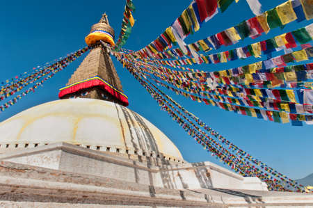 kathmandu: Boudhanath Stupa on a sunny day, in the Kathmandu valley, Nepal