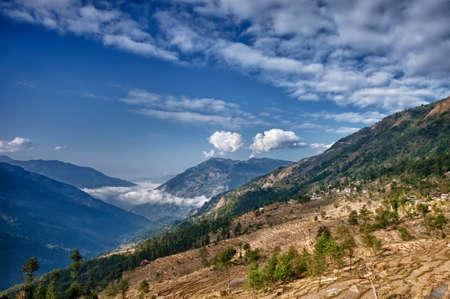 nepali: View from kalinchok Photeng towards the Kathmandu valley, Nepal Stock Photo