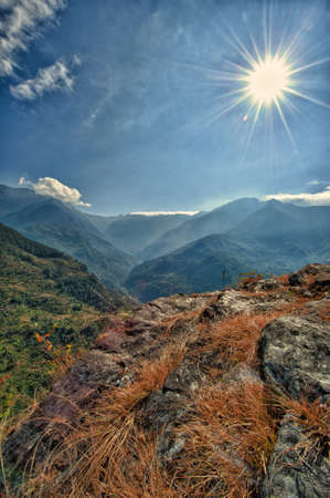 View from kalinchok Photeng towards the Kathmandu valley, Nepal photo