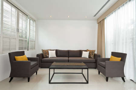 side chair bright living room with grey sofa and decoration - Side Chairs For Living Room