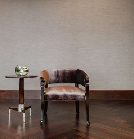 Coffee table chair combination in elegant setting photo