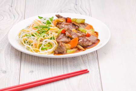 cantonese: South Chinese Hongkong Cantonese Beef with Noodles