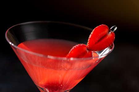 Strawberry Chamomile Maritini mocktail a refreshing summer drink