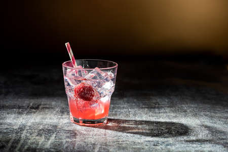Shirley Strawberry Ginger mocktail a refreshing summer drink