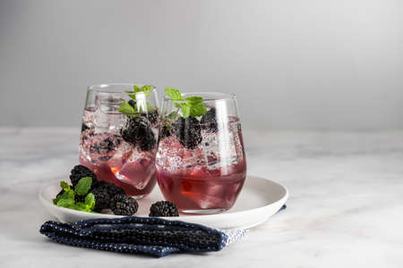 Berry Burlesque mocktail a refreshing summer drink Banque d'images