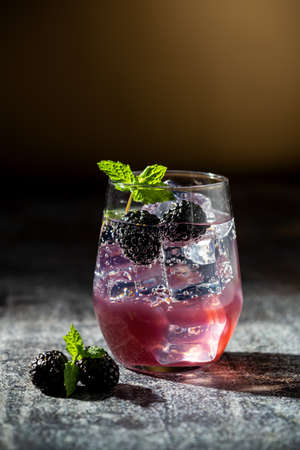 Berry Burlesque mocktail a refreshing summer drink