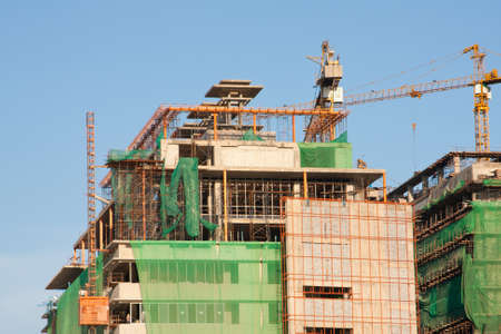 working construction hospital on sky Stock Photo - 6956252