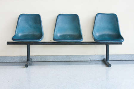 the blue chairs on the floor , pattern blue chairs photo