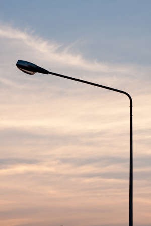 Light poles and public lighting. The illumination and guidance. Stock Photo - 9038351