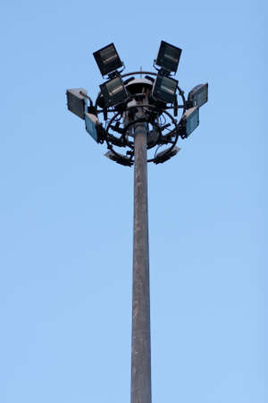 Light poles and public lighting. The illumination and guidance.   photo