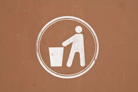 forewarning: Images people litter. On his humble background.  Stock Photo