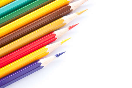 positioned: Bar color pencil variety. Southern Area rest positioned text. Stock Photo