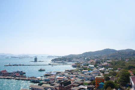 The seaside village on the island of Ko Si Chang ship at sea. Stock Photo - 12049550