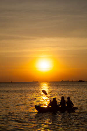 Travel at sea. Boating activities on Koh Si evening. Stock Photo - 12049610