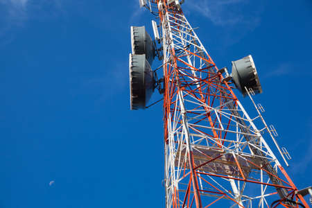 Signaling, cell phone antenna system. Large transmission poles. photo