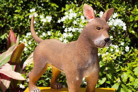 The statue of the dog zodiac.dog zodiac.  photo