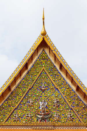 national identity: Thai temple gate. Art has a unique design that is national identity.
