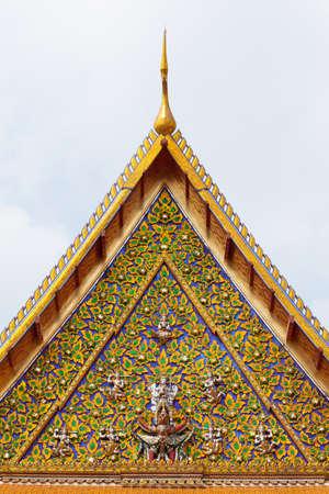 national identity: Thai Temple Gate. L'arte ha un design unico che � l'identit� nazionale.