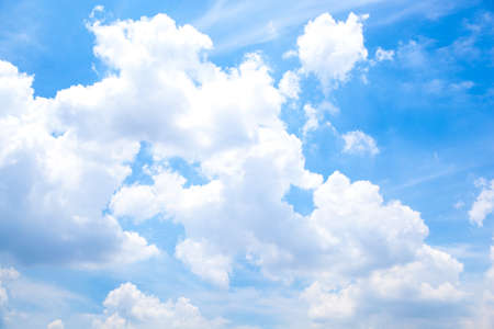 the air fresh: Sky and clouds. Clouds covered the sky during the day, the air fresh.