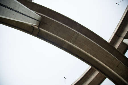 Winding curve bridge is a bridge for automobile bridge complexes a Winding curve path. photo