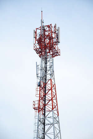 Transmission towers phone. Wireless mobile telecommunication systems. There are a wide range of frequencies. Stock Photo - 16533189