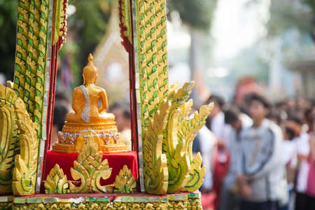 praye: Buddha used in Buddhist rituals. There is a lot of work respect.  Editorial