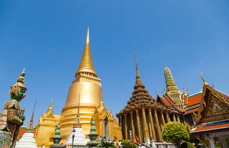 Attractions Wat Phra Kaew in Bangkok, Thailand. There are places of religious importance. Stock Photo - 17845740
