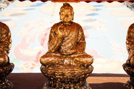 chinese buddha: Chinese Buddha. Identity of the Buddha Image in China. Stock Photo