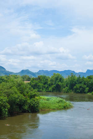 river mountain and forest.natural abundance of nature in Thailand photo