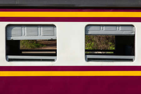 cabin of the train as the train speed limit in the cabin. Stock Photo