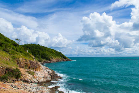 Coast of Koh Samet. Cloud covered the sky. As if the storm came. photo