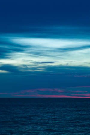 disappeared: sea and the sky gradually into the evening darkness  Solar has gradually disappeared  Stock Photo