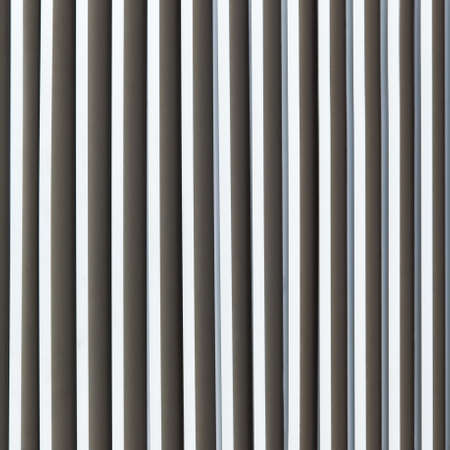 Louver window. Aluminum material as long as the background of the wall.
