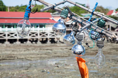 Light fishing equipment. For fishing at night. Larger bulbs. photo