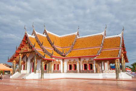 Thailand Temple Thailand art designs are unique and colorful. Stock Photo - 25030611