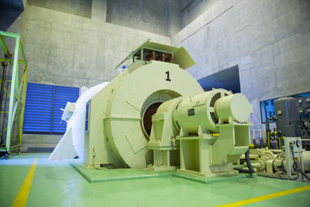 machinery space: Generator factory space Equipment and machinery in the power of energy water.