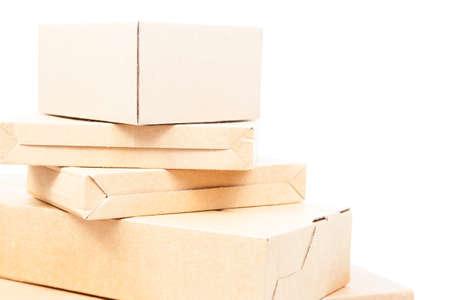 paper box on white isolated background.packshot in studio. photo