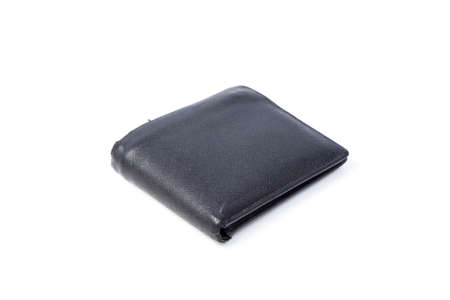 Black wallet on white isolated background.object on white background. photo