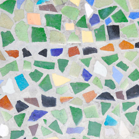 Color mosaic tile colors. A background of cement photo