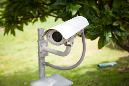 CCTV. Mounted a pole on the lawn. To secure the entrances. photo