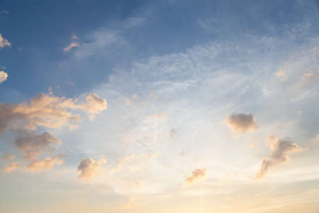 evenings: Clouds and sky in the evening. Solar started less Cloudy with a group in the evenings. Stock Photo